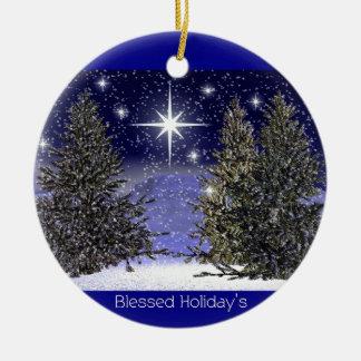 Saludos bendecidos de los días de fiesta ornamento de navidad