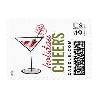 Saludos blancos rojos del día de fiesta de Martini Sello