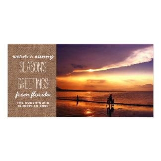 Saludos calientes y soleados del navidad - tarjetas personales