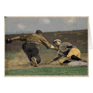 Saludos clásicos del béisbol tarjeta de felicitación