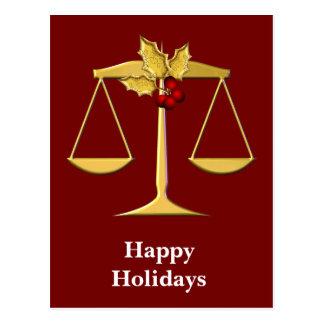 Saludos corporativos legales del navidad tarjeta postal