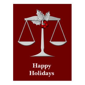 Saludos corporativos legales del navidad postales