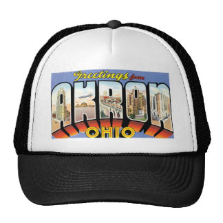 ¡Saludos de Akron, Ohio! Gorros Bordados
