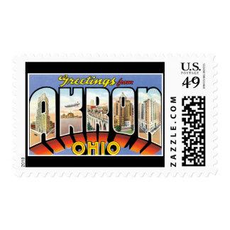 Saludos de Akron Ohio Sellos Postales