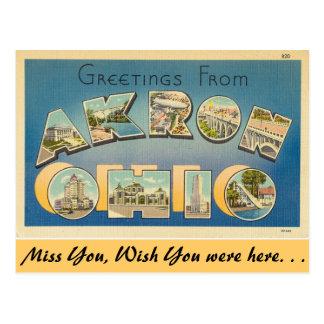 Saludos de Akron Postales