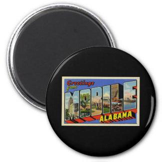 Saludos de Alabama móvil Imán Redondo 5 Cm