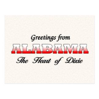 Saludos de Alabama Postal