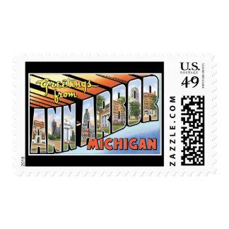 Saludos de Ann Arbor Michigan Sellos