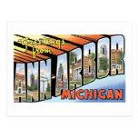Saludos de Ann Arbor, Michigan Tarjeta Postal