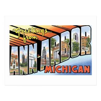 Saludos de Ann Arbor, Michigan Postal
