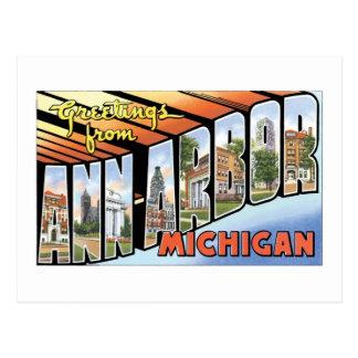 ¡Saludos de Ann Arbor, Michigan! Tarjeta Postal