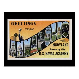Saludos de Annapolis Maryland Tarjetas Postales