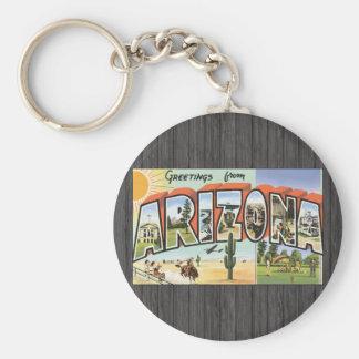 Saludos de Arizona, vintage Llavero Redondo Tipo Pin