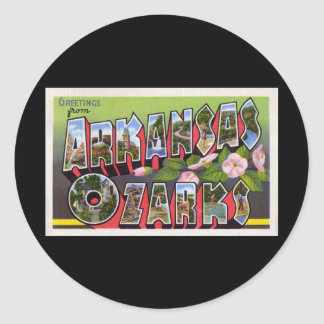 Saludos de Arkansas Ozarks Pegatina Redonda