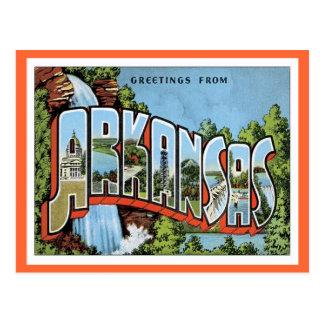 Saludos de Arkansas Tarjeta Postal