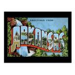 Saludos de Arkansas Tarjetas Postales