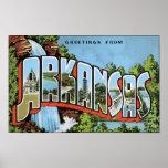 Saludos de Arkansas, vintage Poster