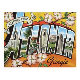 Saludos de Atlanta Tarjetas Postales