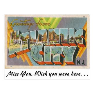 Saludos de Atlantic City, New Jersey Postales