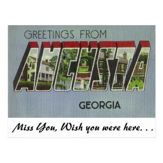 Saludos de Augusta, Georgia Tarjeta Postal