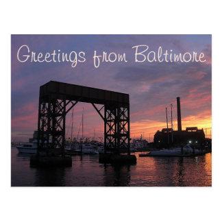 Saludos de Baltimore Tarjeta Postal