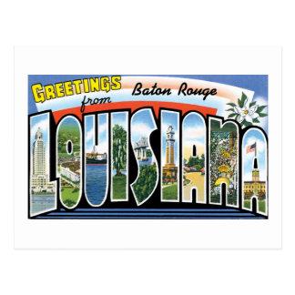 Saludos de Baton Rouge, Luisiana Tarjeta Postal