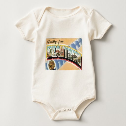 Saludos de Beantown Boston Mamelucos De Bebé