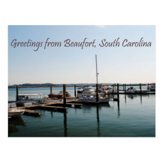 Saludos de Beaufort, SC Postales