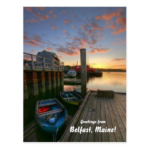 ¡Saludos de Belfast, Maine! Postales