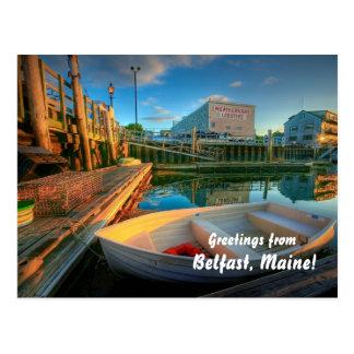 ¡Saludos de Belfast Maine! Tarjetas Postales
