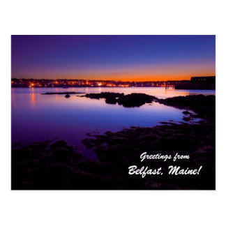 ¡Saludos de Belfast Maine! Postal
