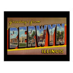 Saludos de Berwyn Illinois Tarjetas Postales