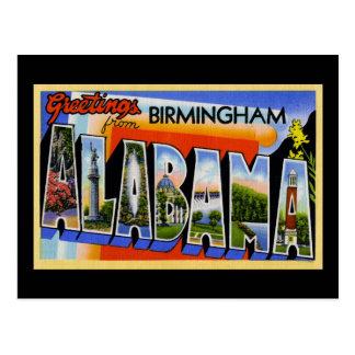 Saludos de Birmingham Alabama Tarjetas Postales