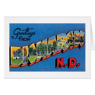 ¡Saludos de Bismarck, Dakota del Norte! Tarjeta De Felicitación
