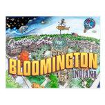 Saludos de Bloomington Indiana (postal)