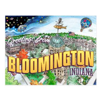 Saludos de Bloomington Indiana (postal) Postales