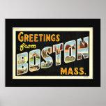 Saludos de Boston, Massachusetts Póster