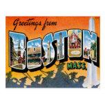 Saludos de Boston Massachusetts Tarjeta Postal
