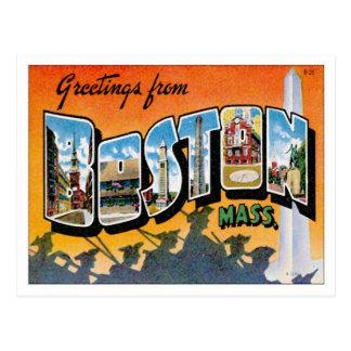 Saludos de Boston Massachusetts Tarjetas Postales