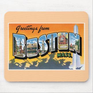 ¡Saludos de Boston! Alfombrillas De Ratones