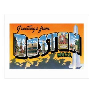 ¡Saludos de Boston! Tarjeta Postal
