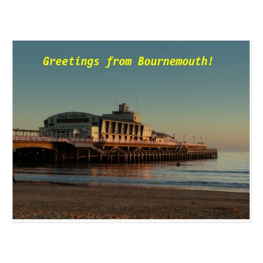 ¡Saludos de Bournemouth! Tarjeta Postal