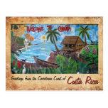 Saludos de Cahuita, Costa Rica Postal