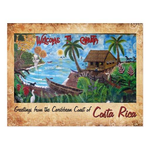 Saludos de Cahuita, Costa Rica Tarjeta Postal