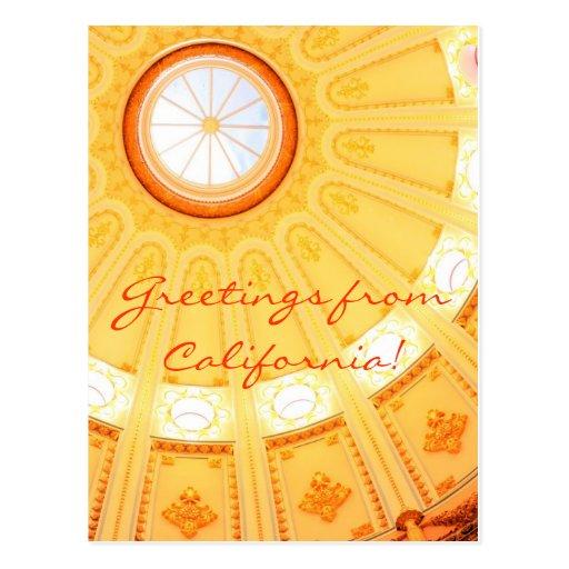 Saludos de California… Postal