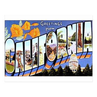 Saludos de California Tarjeta Postal