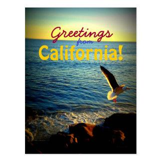 ¡Saludos de California! Postales