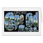 ¡Saludos de Cape Cod, masa! Tarjeta