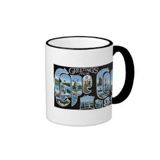 ¡Saludos de Cape Cod, masa! Taza De Café