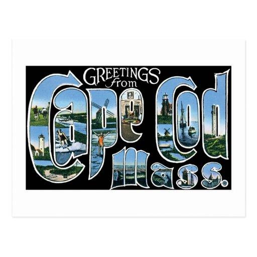 Saludos de Cape Cod Tarjetas Postales